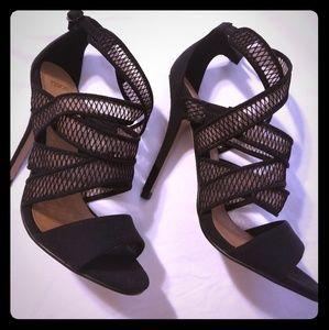 Asos mesh crisscross heels